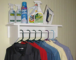 Closet Rod Shelf For The Laundry Room ...
