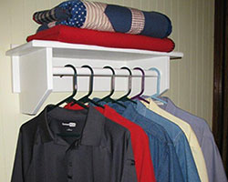 closet rod shelf for the bedroom