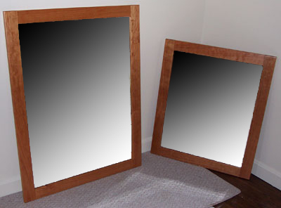 solid cherry Shaker styled mirrors