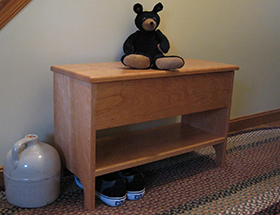 Shaker Cherry Storage Bench