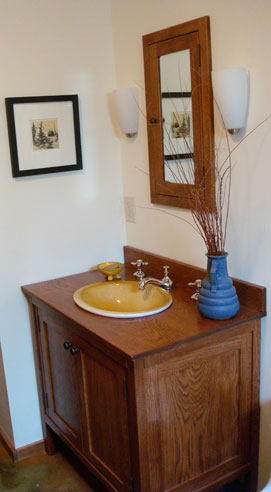White Oak Bathroom Vanities