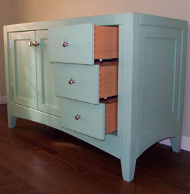Custom Bathroom Vanity Legs painted bathroom vanities