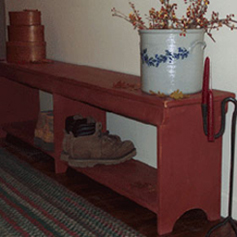 Old Fashioned Boot Bench