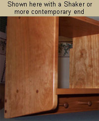 wall storage cubby with shaker end