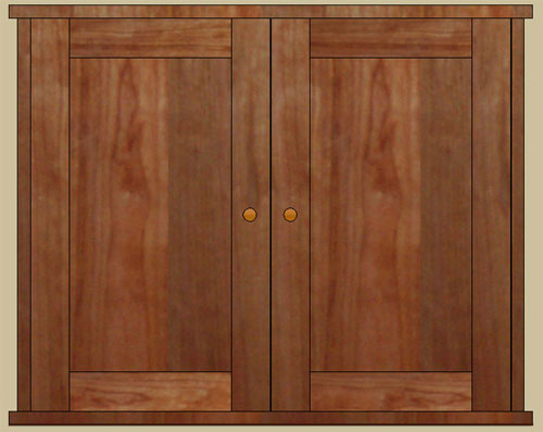 double door surface mount medicine cabinet & Double door medicine cabinet with mirror or solid door recessed or ...