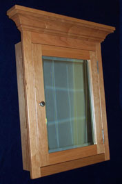 Cherry Medicine Cabinet With Mirror Or Solid Door