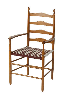 Shaker arm chair with ladderback