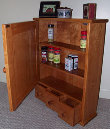 kitchen spice cabinet