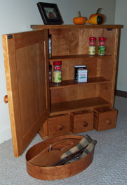 NHwoodworking - Kitchen Spice Cabinet