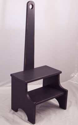 Black step stool ... : wooden step stool with handle - islam-shia.org