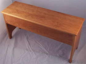 "Storage bench 5"" deep in cherry"