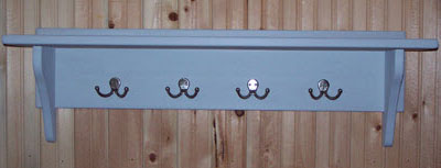Utility shelf with double hooks