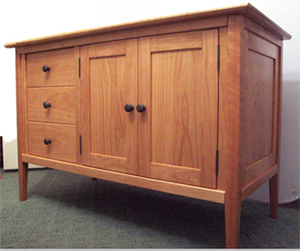 vanity with 3 drawers on left